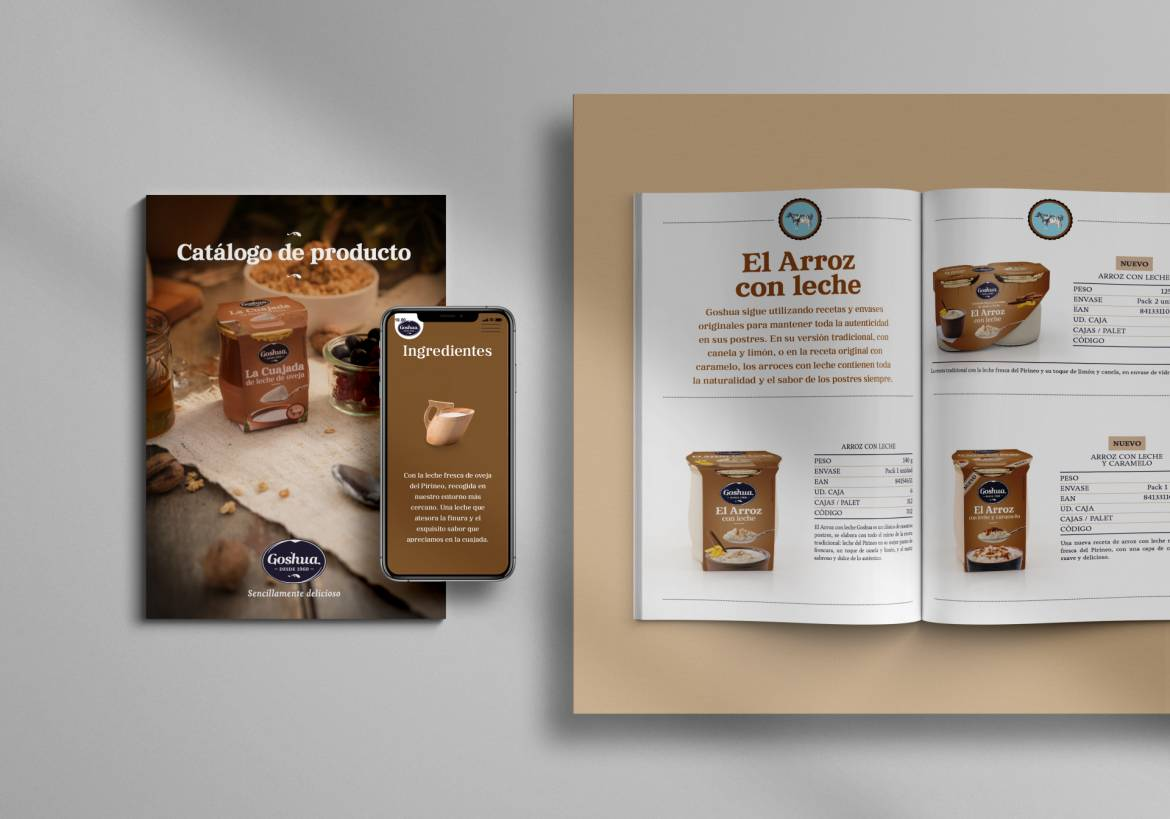 Goshua´s product catalogue